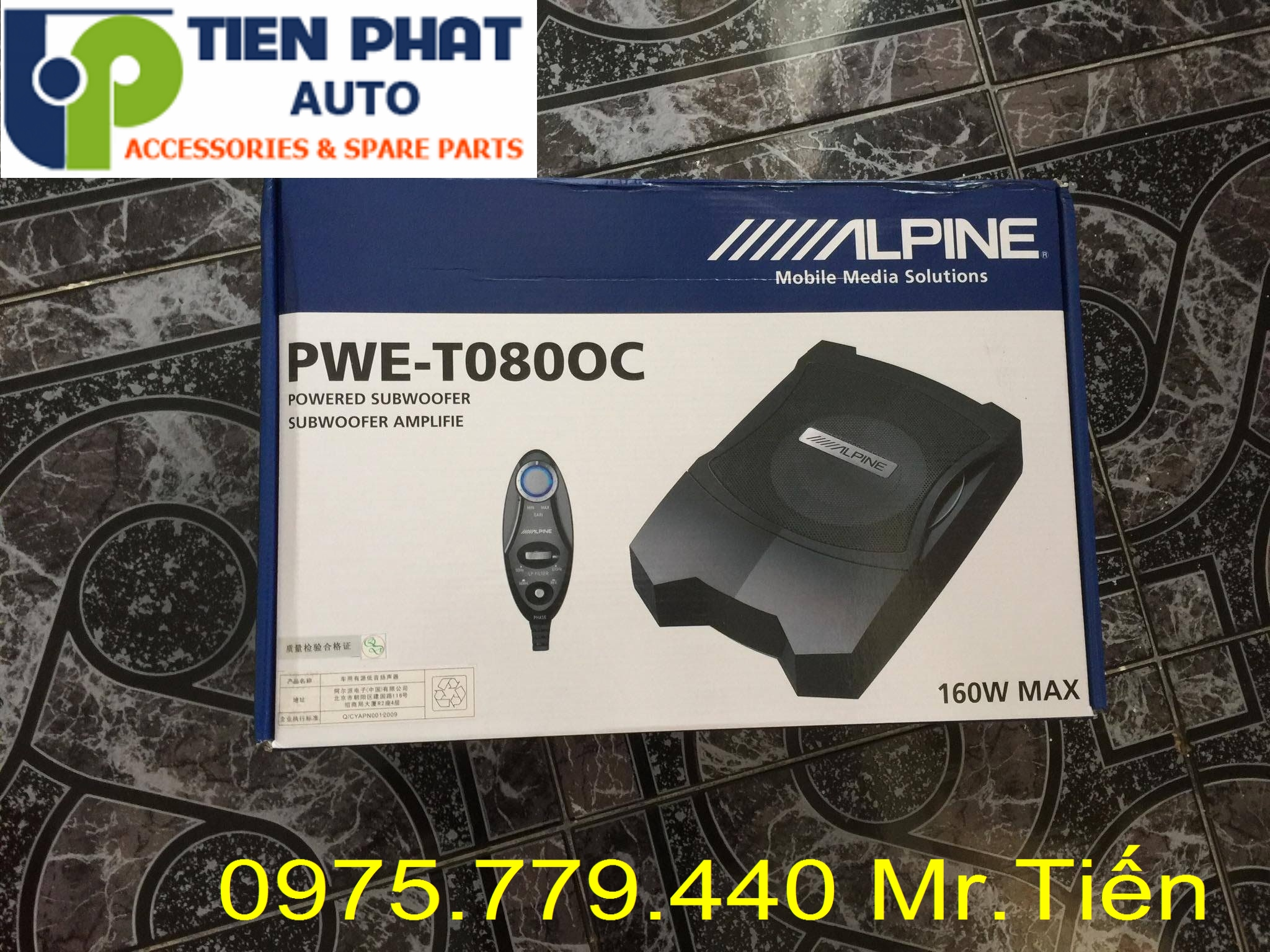 Lắp Loa sub Alpine PWE-T0800C cho Chevrolet Captiva Lắp Đặt Tận Nơi