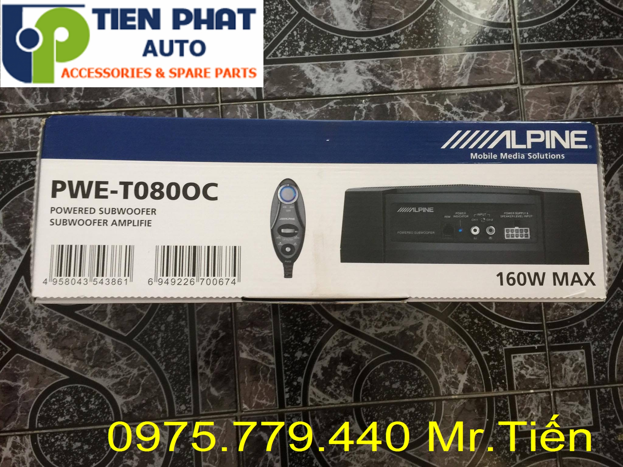 Lắp Loa sub Alpine PWE-T0800C cho Toyota Camry Lắp Đặt Tận Nơi