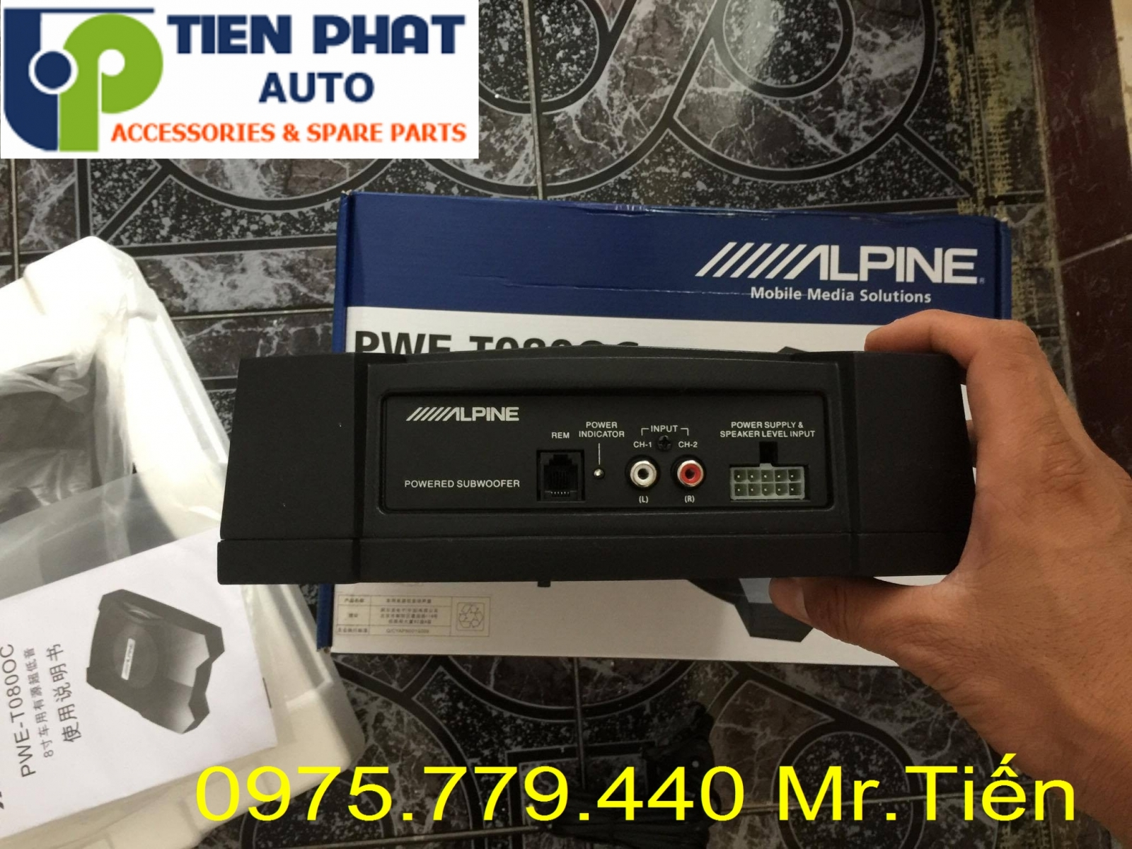 loa sub dien alpine pwe-t0800c am thanh hay chuan cho toyota camry