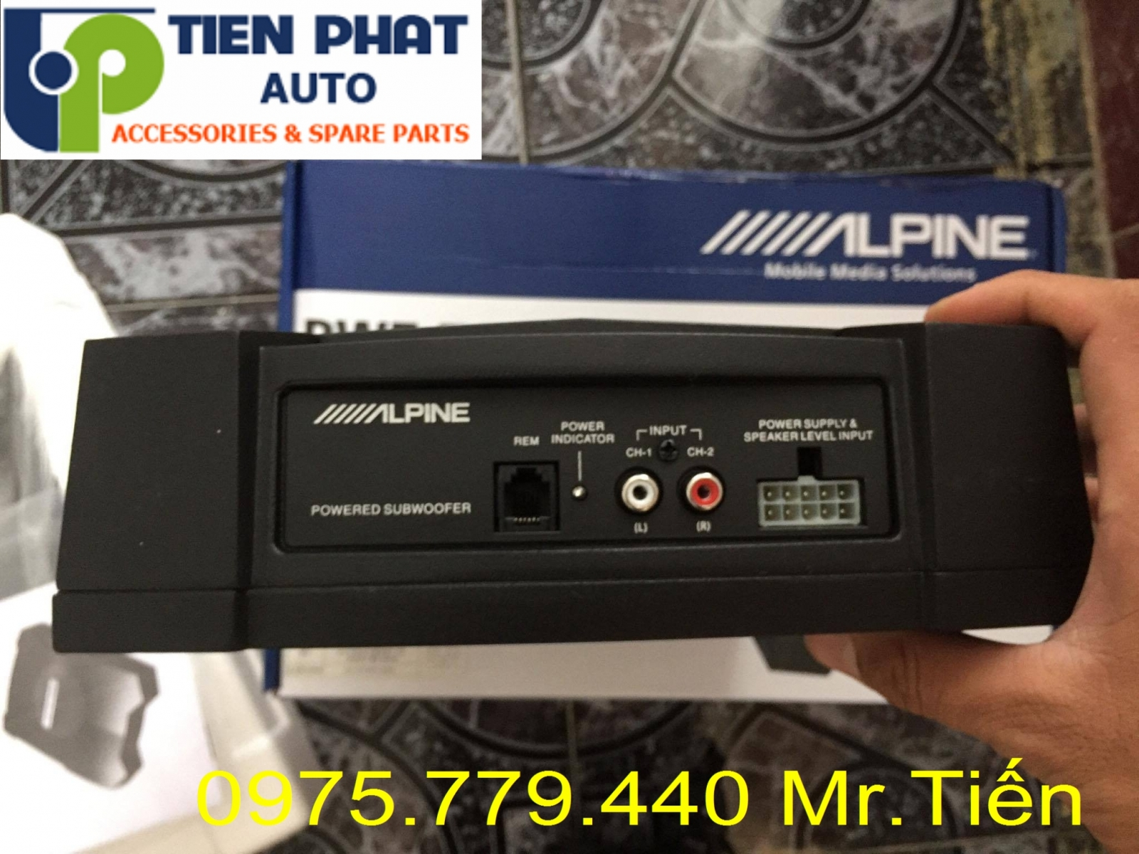 loa sub dien alpine pwe-t0800c am thanh hay chuan cho toyota fortuner