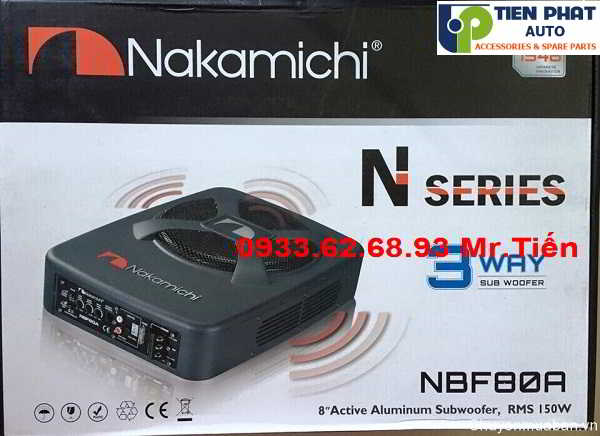 Lắp Đặt Loa Sub Nakamichi NBF 80A Cho Xe Toyota Yaris