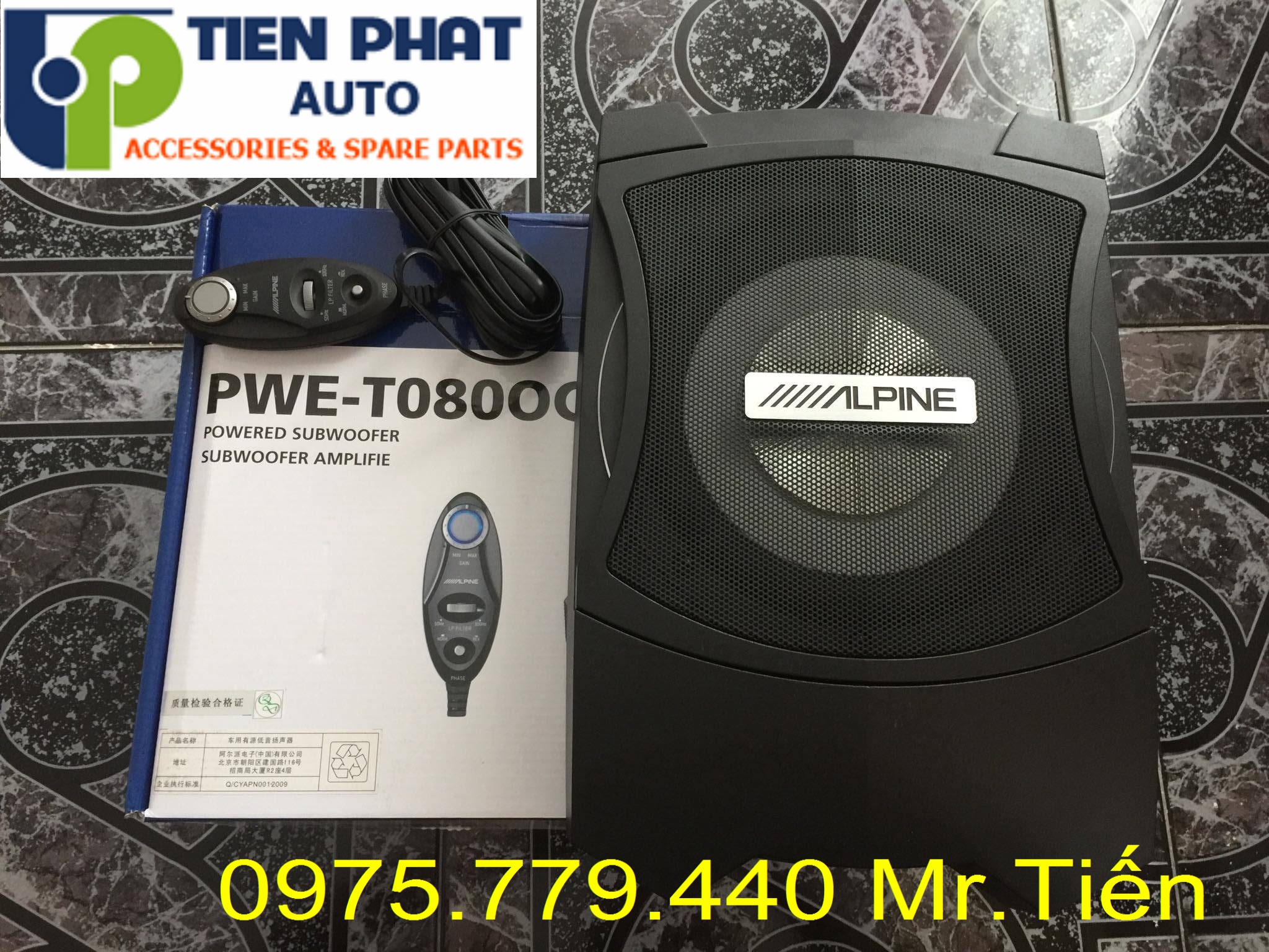 Lắp Loa sub Alpine PWE-T0800C cho Honda Crv Lắp Đặt Tận Nơi