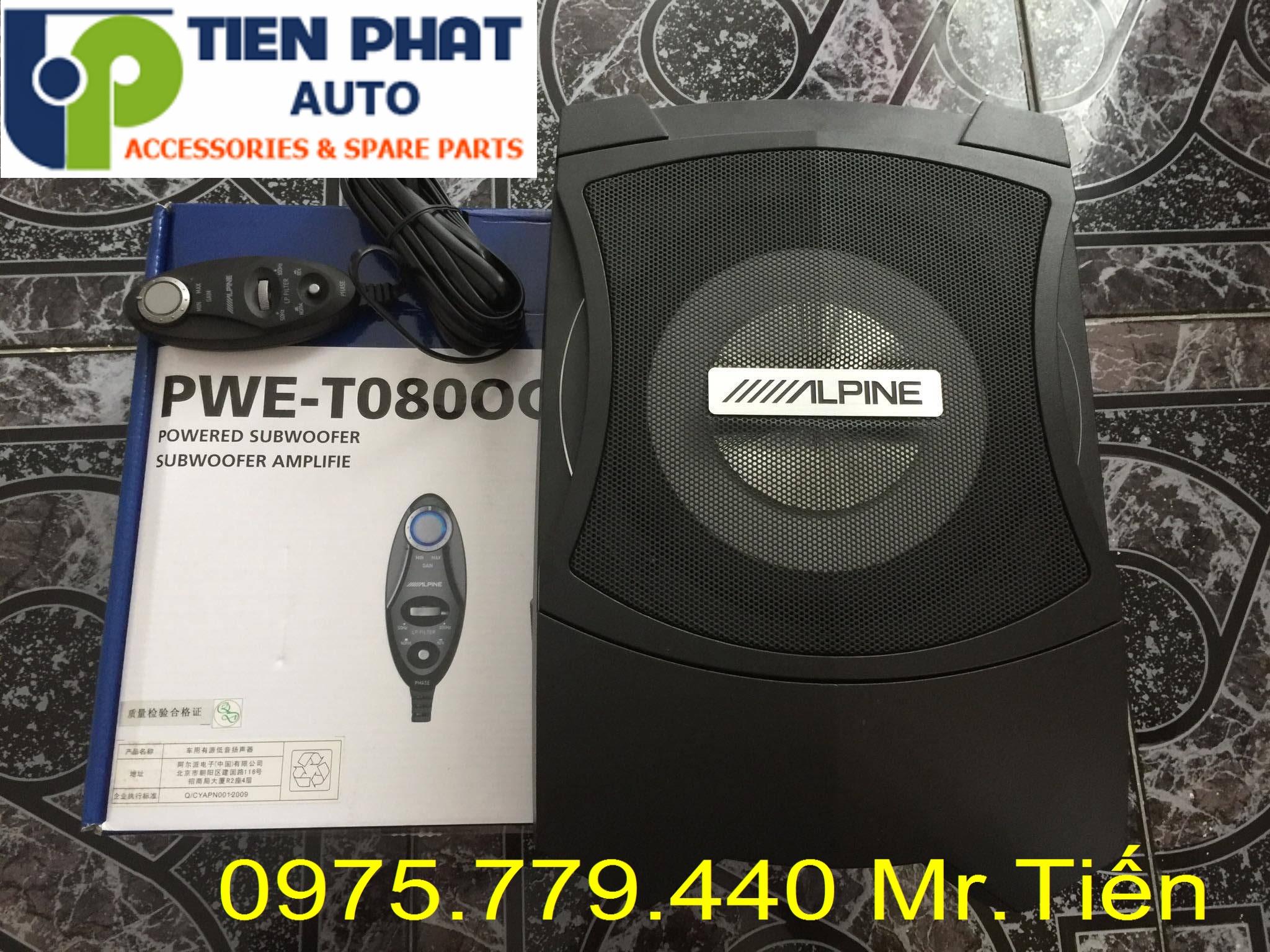 Lắp Loa sub Alpine PWE-T0800C Ô Tô Cho Nissan Xtrail Lắp Đặt Tận Nơi